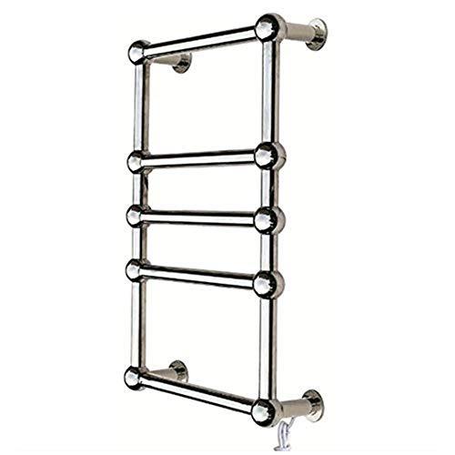 - AINGOL Electric Towel Warmer, 5 Bars Heated Towel Rack Wall Mount Towel Drying Rack 304 Stainless Steel Polished Hot Towel Warmer, Chrome 60W,Hardwired
