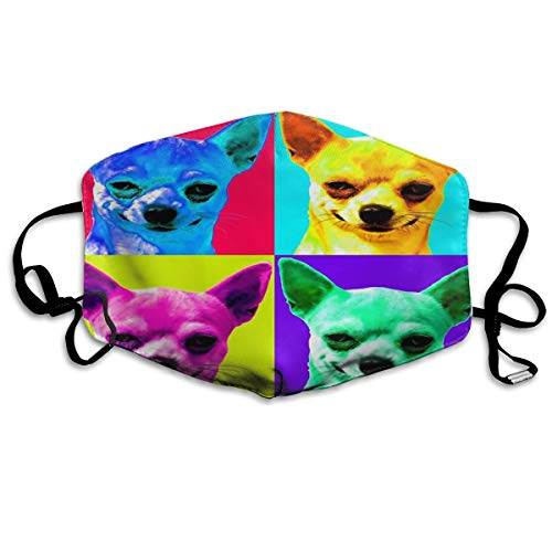 Colorful Chihuahuas Mouth Mask Face Mask For Men And Women Anti Pollution Half Face Mask Washable Reusable Muffle Mask For Running Cycling Camping Travel