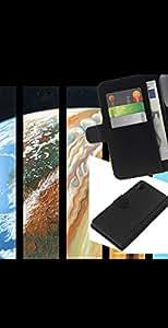 YiPhone /// Tirón de la caja Cartera de cuero con ranuras para tarjetas - Psychedelic Espacio Órbitas Galaxy - Sony Xperia Z2 D6502