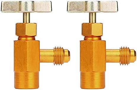 EVGATSAUTO 1//4adaptateur de filetage SAE R-134a R-134 AC robinet de r/éfrig/érant peut distributeur outil de valve 1//2 filetage Acme