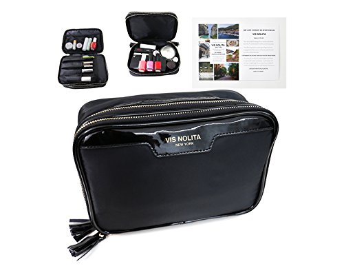 Vis Nolita Luxury Travel MakeUp Bag, Cosmetic Organizer bag, Travel Cosmetic Case with Makeup Brush holder by Vis Nolita