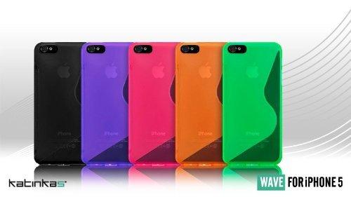 Katinkas KATIP51057 Soft Cover für Apple iPhone 5 Wave rosa