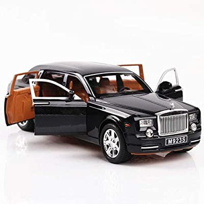 Raintoad 1:24 Rolls-Royce Phantom Diecast Vehicle Model Toy Cars Sound & Light & Pull Back Model Toy Car for Kids: Electronics