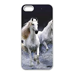 Custom New Cover Case for Iphone 5,5S, Galloping Horse Phone Case-R670092