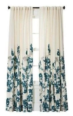 threshold-climbing-floral-window-panel-teal-blue-gray-off-white-54x95