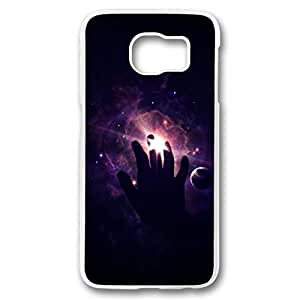 iCustomonline Touch Galaxy Lights Transparent Plastic Hard Back Shell for Samsung Galaxy S6