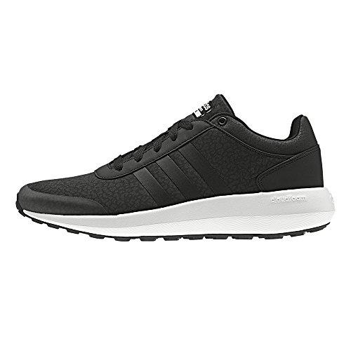 adidas Cloudfoam Race W, Zapatillas de Deporte Unisex Adulto Negro (Negbas / Negbas / Ftwbla)