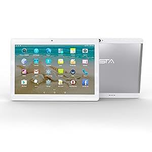 BEISTA Tablet de 10.1 Pulgadas (Metal,WiFi,Quad-Core,HD 800x1280,Doble Cámara,Doble Sim,OTG,GPS)-Plata