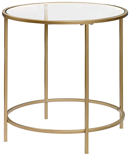 fd2f0ad7115f Amazon.com  Sauder 417829 Int Lux Side Table Round