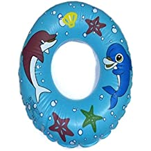Baby Kids Toddler Inflatable Swimming Swim Ring Float Seat Boat Pool Bath Safety(Blue)