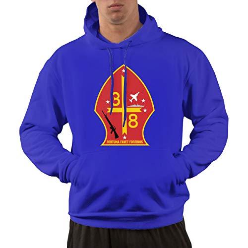 3rd Battalion 8th Marine Regiment Mens Hoodies Hooded Sweatshirt with Pocket