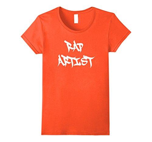 Womens Funny Halloween Rap Artist Rapper Costume Shirt Large (Female Rapper Halloween Costume)