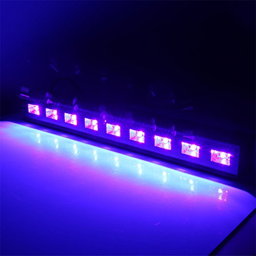 U`King 4Pcs Black light Bar with 9LEDs x 3W UV LED for Glow Bar Neon Blacklight Party Stage Lighting by U`King (Image #1)