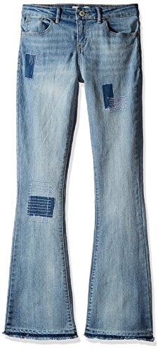 Levi's Big Girls' Mid Rise Flared Boho Jeans, Weathered Indigo, 10