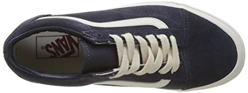 Herringbone Vans Adults' Skool Marshmallow Unisex Blue Navy Trainers Old Lace Suede x1x6qpw