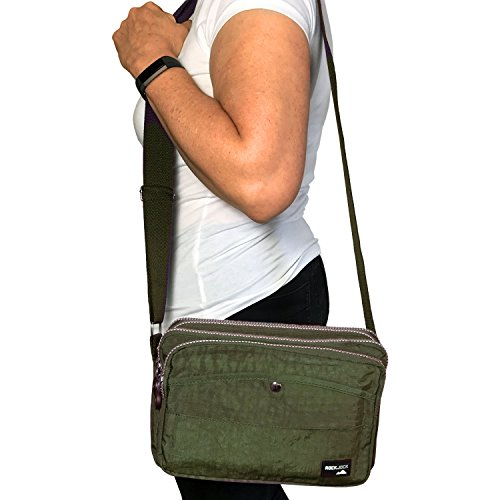 WOMENS CASUAL SHOULDER MULTI PARIELLA POCKET Olive BODY HAND TRAVEL CROSS LADIES BAG TM ROCKJOCK by qpwBUB