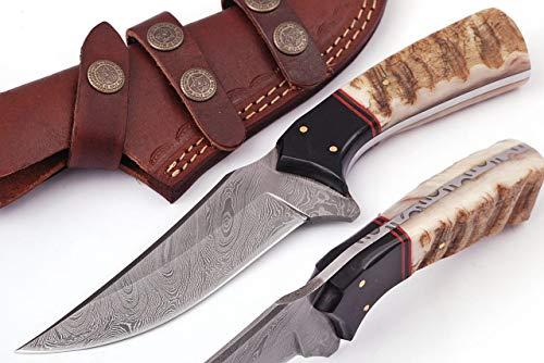 Grace Knives Handmade Damascus Hunting Knife G-5051 (with Sheath)