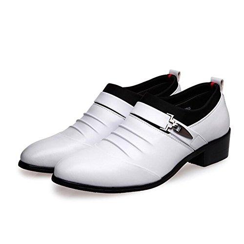 Scarpe da uomo per il tempo libero in pelle tendine/vestito/autunno/business/wedding/moda]/slip on/marrone-nero-nero Lunghezza piede=26.8CM(10.6Inch) S9nsu