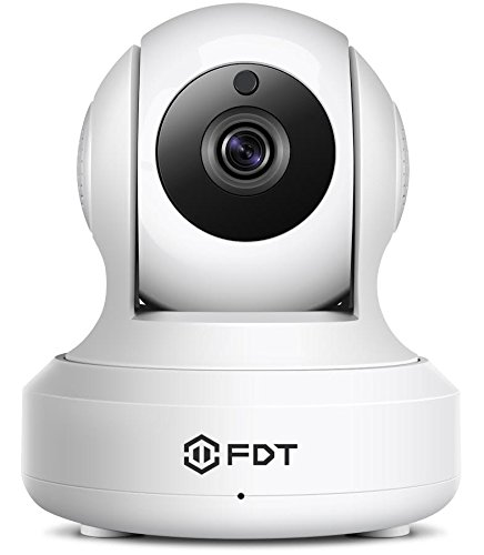 FDT 720P HD WiFi Pan/Tilt IP Camera (1.0 Megapixel) Indoor Wireless Security Camera FD7901 (White), Plug & Play, Two-Way Audio & Nightvision