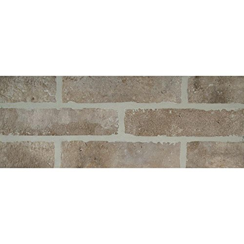 Vogue Tile Gray Brick 2-1/3 in. x 10 in. Glazed Porcelain Floor and Wall Tile (5.17 sq. ft. / case) ()