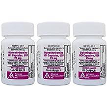 Diphenhydramine 25 mg 300 Capsules Generic Benadryl Allergy Medicine and Antihistamine