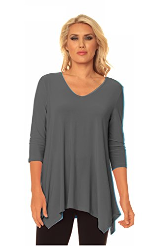 Alisha.D Travel Wear Tunic Fall Colors (X-Large, Anthracite) ()