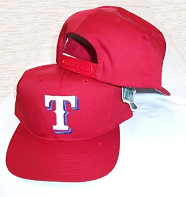 Texas Rangers Vintage Red Snapback Adjustable Plastic Snap Strap Back Hat/Cap