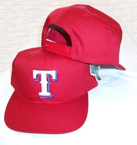 Texas Rangers Vintage rojo gorra ajustable correa de plástico Snap ...