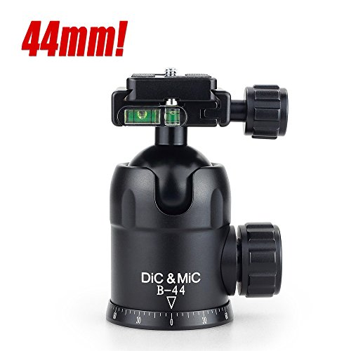 dicmic-b-44-camera-tripod-ball-head-ballhead-quick-release-plate-44mm-super-large-ball-for-big-camer