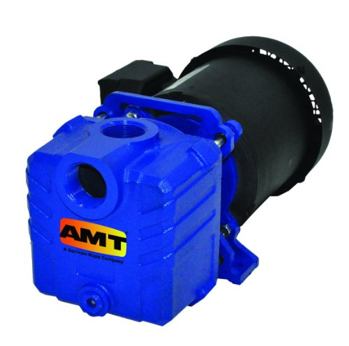 "AMT Pump 2855-95 Self-Priming Centrifugal Pump, Cast Iron, 1 HP, 1 Phase, 115/230 V, Curve D, 1-1/4"" NPT Female Suction & Discharge Ports"