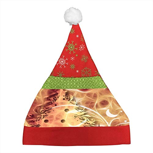 Dream Silhouette of Christmas Tree Christmas Hat for Childrens and Adults, Non-Woven New Hats for Celebrations