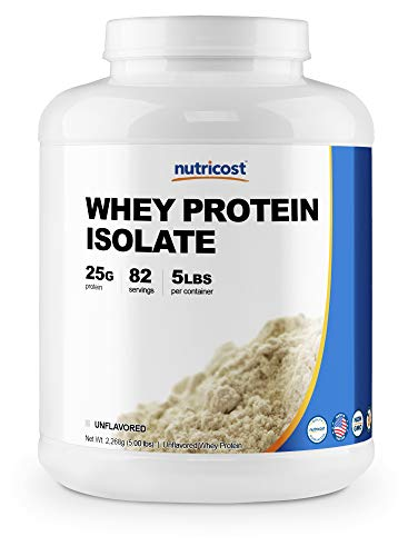 (Nutricost Whey Protein Isolate (Unflavored) 5LBS)