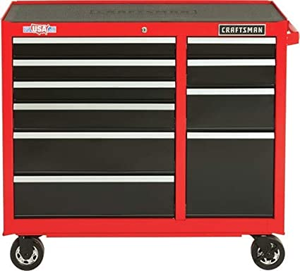 Amazon com: CRAFTSMAN Tool Cabinet, 41-Inch, 10 Drawer, Red