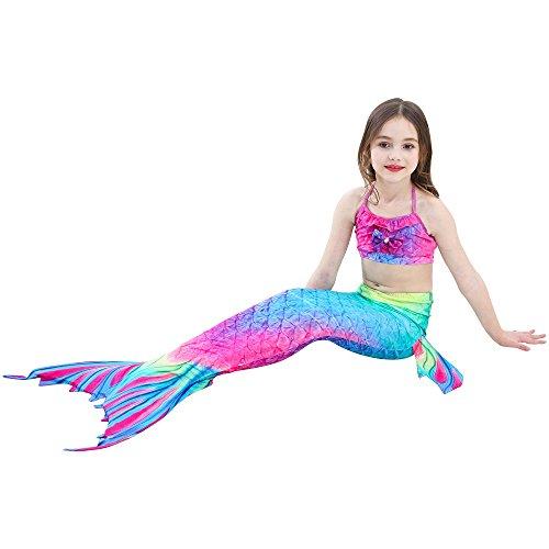 nuotare di coda monopinna sirena da per SAIANKE con bagno scintillante Dh02 XwdSP5X4q