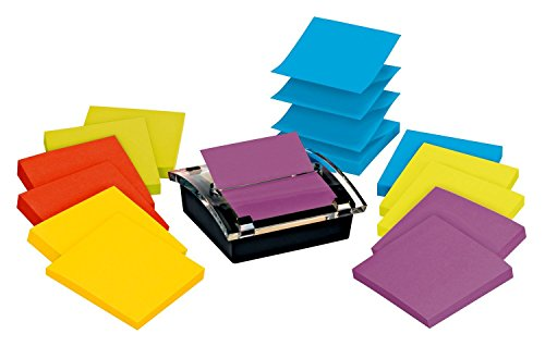 Post-it Sheet Super Sticky Note and Dispenser Value Pack, 3 x 3 Inches, 90-Sheet Pad (12 Pack) -