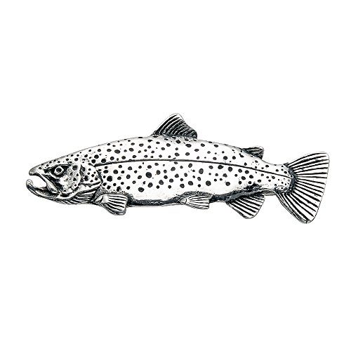 Wildthings Ltd Sterling Silver Trout Fish Pin ()