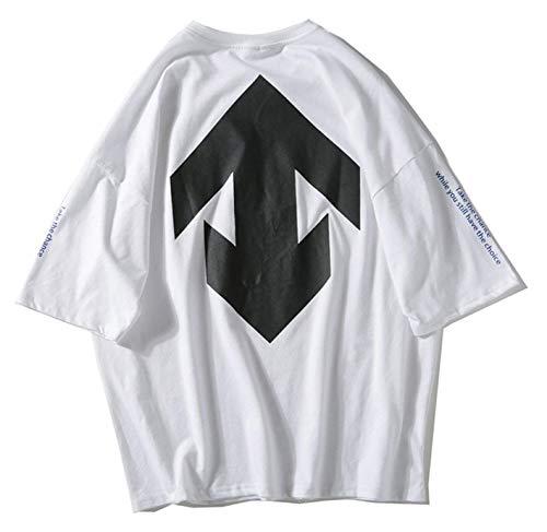 Con De color Hip M Camisa Ropa Unisex 1 Street Casual Ojal Corta Size White Verano Tamaño Tifer Gran Hombre Hop Manga High Para Tops a55qwHx