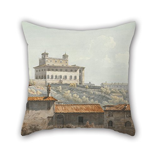 Artistdecor 20 X 20 Inches / 50 By 50 Cm Oil Painting John Warwick Smith - The Villa Medici, Rome Pillow Cases Twice Sides Is Fit For Bar Seat Son Wedding Dining Room Teens Monther