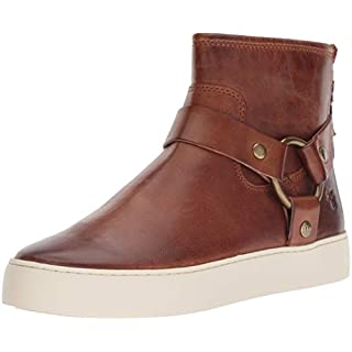 FRYE Women's Lena Harness Bootie Sneaker, cognac, 7.5 M US