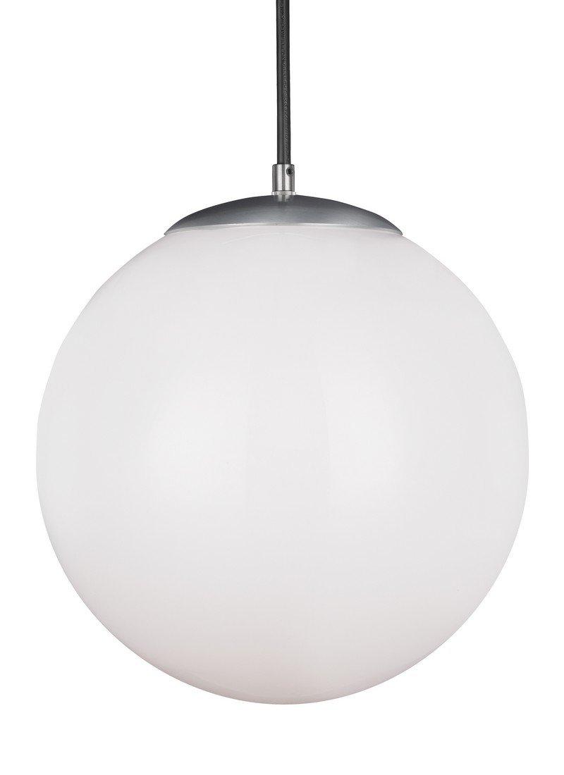 Sea Gull Lighting 6024-04 Hanging Globe Pendant, One, Satin Aluminum Finish