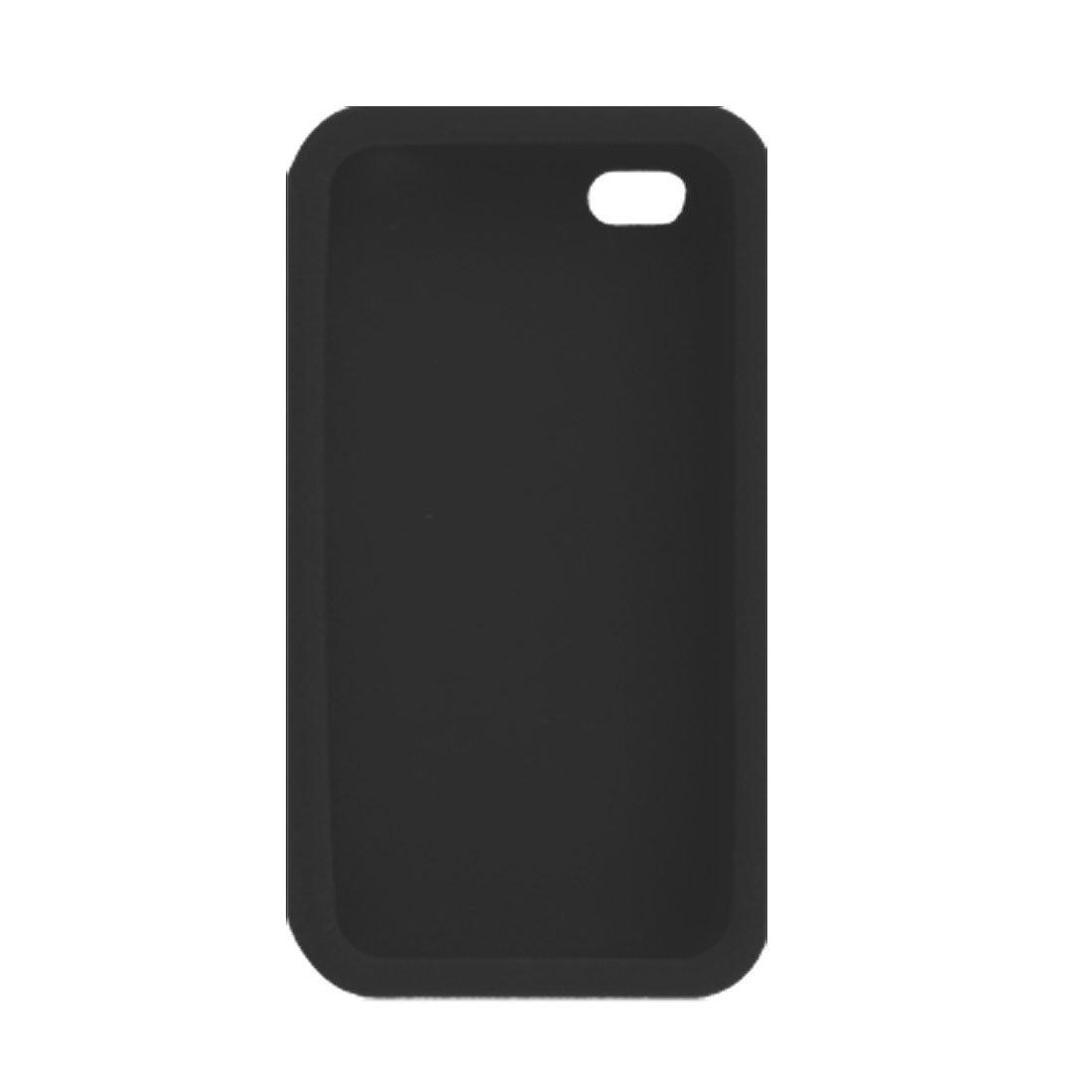 Housse de protection noire antidérapants en silicone pour Apple iPhone 4G 4