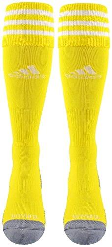 adidas Copa Zone Cushion III Soccer Socks (1-Pack), Sun/White, X-Small