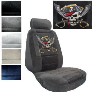 Swell Amazon Com Seat Cover Connection Pirate Jolly Roger Print 2 Dailytribune Chair Design For Home Dailytribuneorg