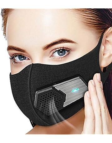 Beeasy Máscara Eléctrica con Respirador,Mascarilla Antipolvo Lavable para Deportes al Aire Libre,Jardinería