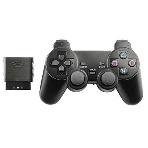 Controller for PS2 Playstation 2 Wireless (Black) ()