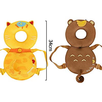 Domccy Cute Baby Head Protector Toddlers Head Safety Pad Cushion Baby Back Protection Prevent Toddlers Injured Suitable Age 4-24 Months - Monkey Baby Products and Accessories, Baby Toys, Clothing