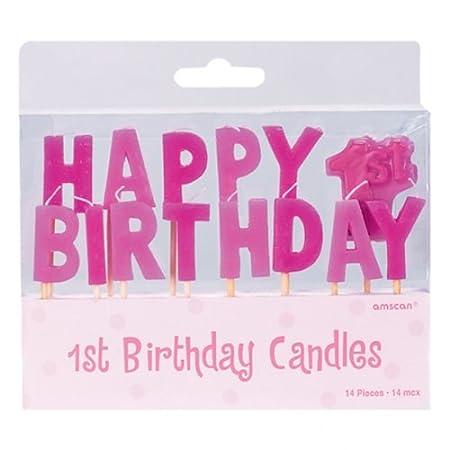 Amscan - Invitaciones para primer cumpleaños de niña Mini ...