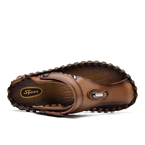 Cuero Zapatos Aire Zapatos Al LXXAMens Rápido De Hombre Libre Trekking Brown2 Secado Usos Real De Zapatilla Playa Dos Verano wxXOOqAR0z