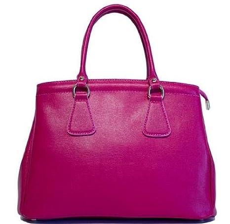 e6d636eff4018d Amazon.com: Etasico Italian Leather Handbags Designer Inspired Prada Bags -  Fuchsia Raspberry: Clothing