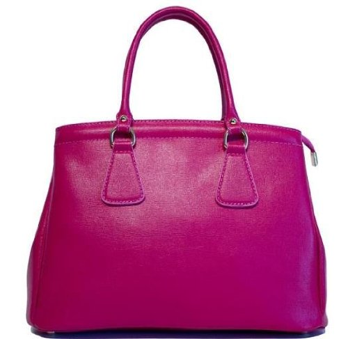725d6abe9649 Amazon.com  Etasico Italian Leather Handbags Designer Inspired Prada Bags -  Fuchsia Raspberry  Clothing